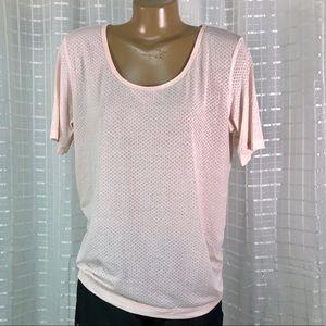 Lululemon Short Sleeve Lightly Pink Honeycomb Top